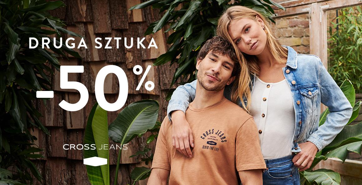 Cross Jeans® Kup otrzymaj 50% na drugi, tańszy produkt