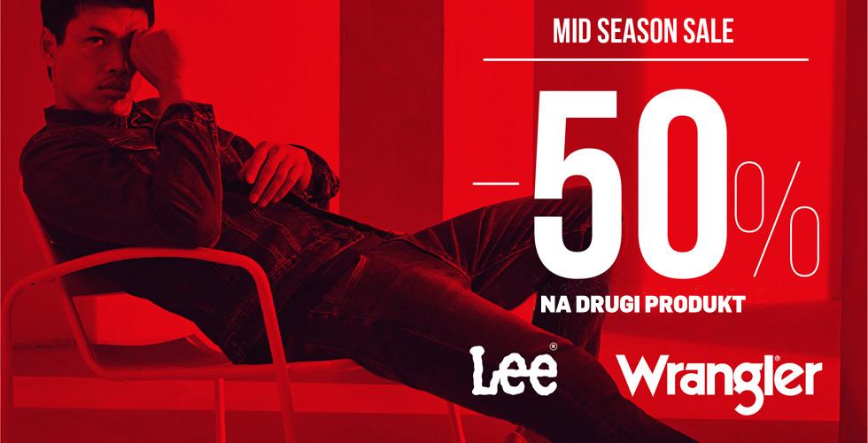 Wrangler/Lee Mid Season Sale -50% na drugi i kolejny produkt