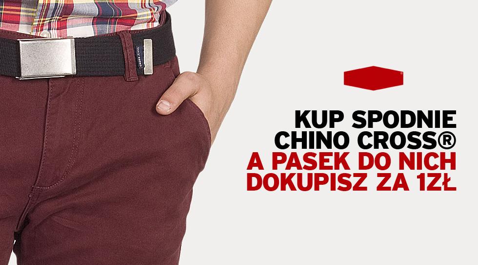 Kup spodnie chino marki Crossjeans® i odbierz zniżkę na pasek Crossjeans®