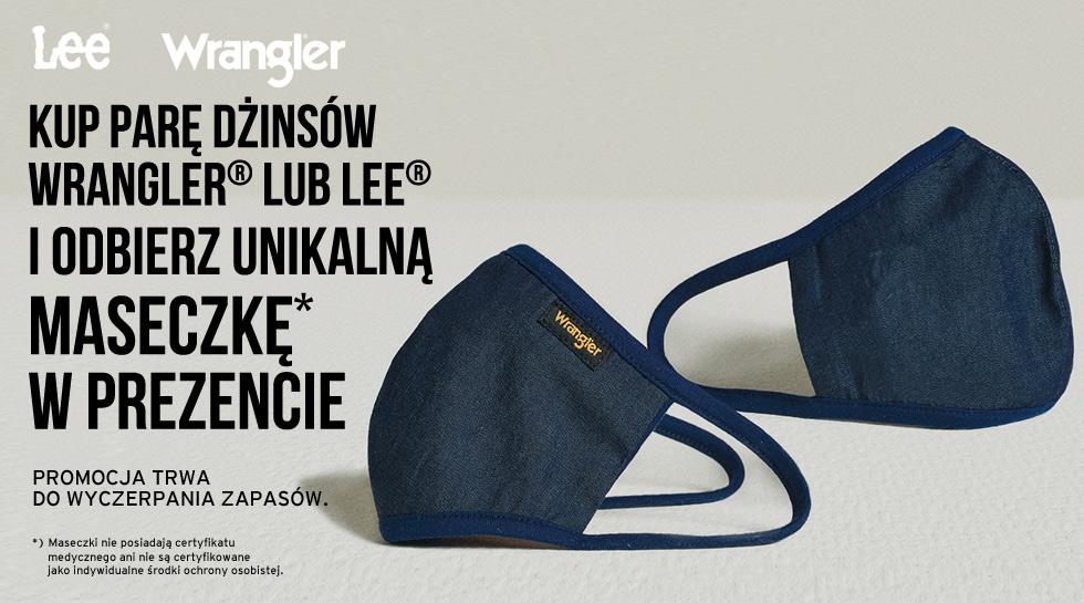 Maseczka Wrangler® do zakupu spodni Wrangler® lub Lee®