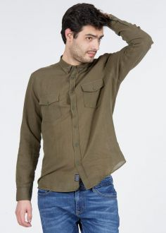 Cross Jeans® 2 Pocket Shirt - Olive (35337-002)