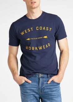 T-Shirt Męski Lee® Workwear Tee - Dark Navy (L60BFENM)