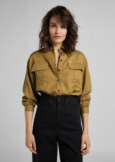 Koszula Damska Lee® Box Pleat Shirt - Safari (L49UBPSH)
