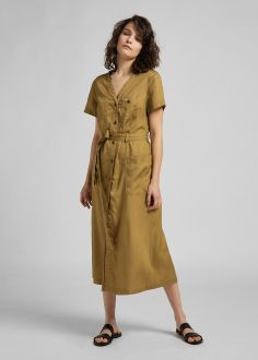 Lee® Tie Dress - Safari (L50NBPSH)