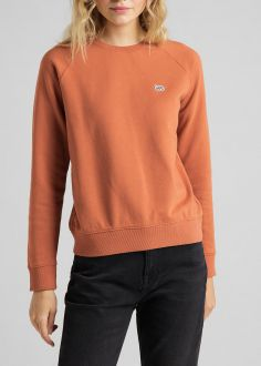 Damska Bluza Lee® Plain Crew Neck Sweatshirt - Burn Ocra (L53RTXOM)