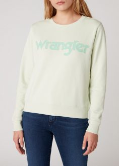 Damska Bluza Wrangler® Regular Sweater - Almost Aqua (W6N2HAG11)