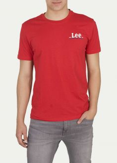 Lee® Small Logo Tee - Bright Red (L62GFQEF)