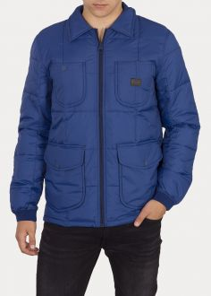 Męska Kurtka Lee® Lightweight Padded Jacket - Oil Blue (L86CUJMO)