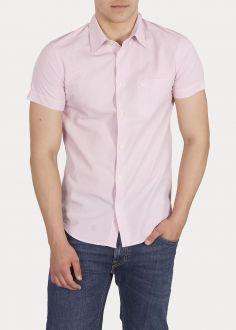 Męska Koszula Wrangler® Short Sleeve One Pocket Button Down - Cameo Pink (W5944OSY2)