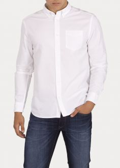 Męska Koszula Wrangler® Longsleeve 1 pocket Button Down - White (W5A3BM989)