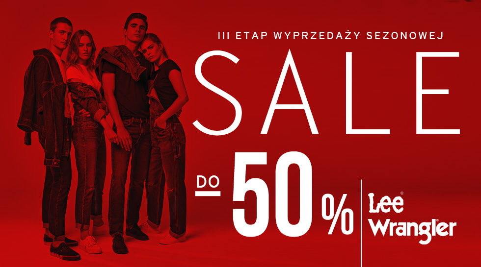 Wrangler / Lee Summer Sale 2018 -50%