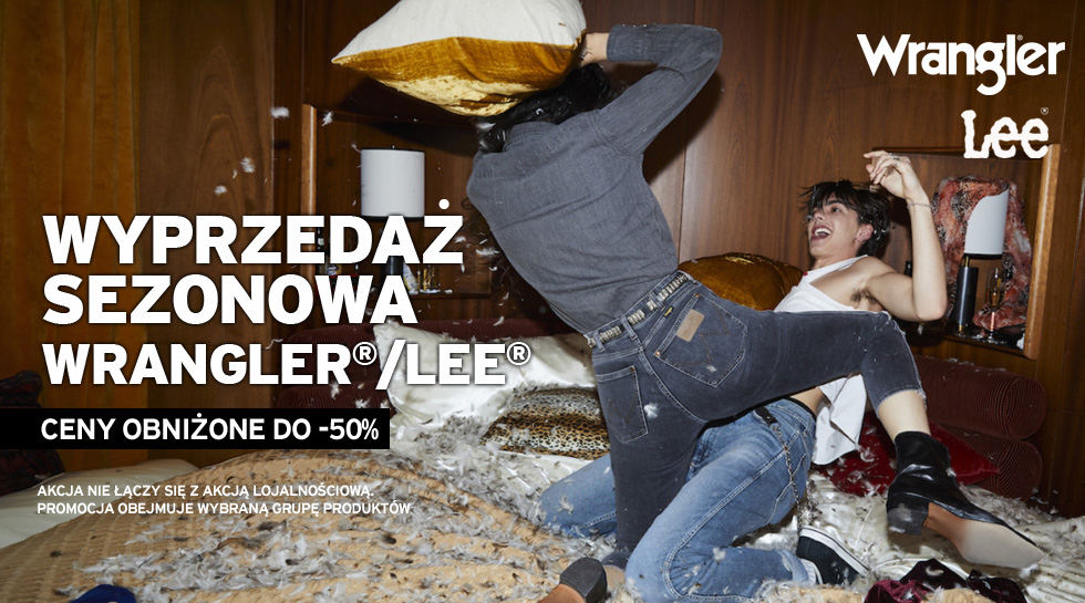 Wyprzedaż Wrangler® i Lee® w Jeans24h