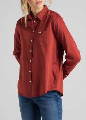 Lee® One Pocket Shirt - Red Ochre