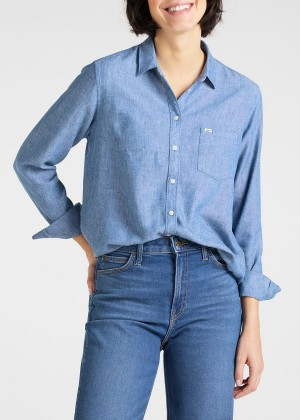 Lee® One Pocket Shirt - Washed Blue