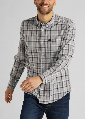 Lee® Button Down - Grey Mele