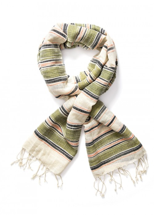 Lee® Multi Stripe Scarf - Army Green