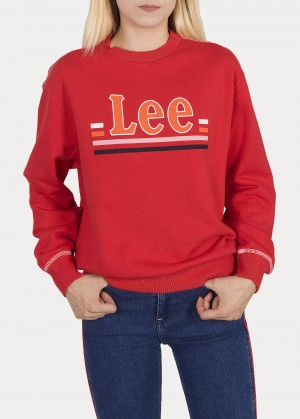Lee® Logo Sweatshirt - Warp Red