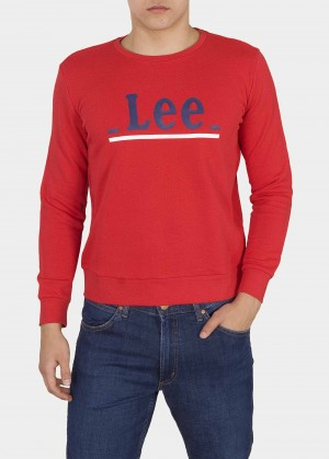 Lee® Crew Logo Lines - Bright Red