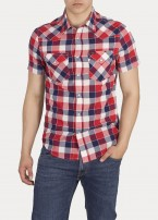 Lee® Short Sleeve Western Shirt - Bright Red