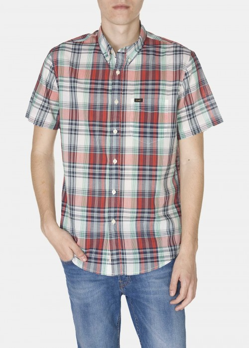 Lee® Button Down Ss - Lava Red