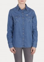 Wrangler® Western Shirt - Light Indigo