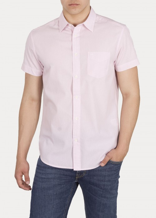 Wrangler® Short Sleeve One Pocket Shirt - Cameo Pink