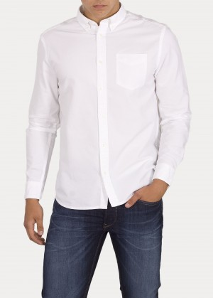 Wrangler® Longsleeve 1 pocket Button Down - White
