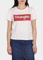 Wrangler® Logo Tee - Off White / Red